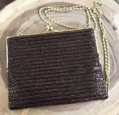 Vintage Beaded Handbag / Purse / Shoulder Bag / Flapper Style / Clutch