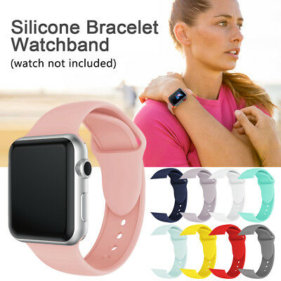 Replacement Silicone Sport Band Strap for Apple Watch 38/40/42/44mm iWatch UK MK