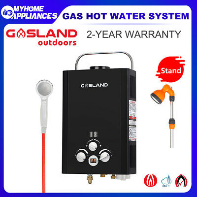 GASLAND Portable Gas Hot Water Heater LPG Shower Stand System Outdoor Camping RV