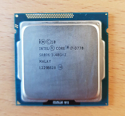 Intel Core i7-3770 3,4 GHZ CPU Prozessor 22nm Quad Core 8MB SR0PKF LGA1155