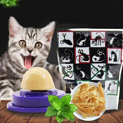 Cat Solid Nutrition Gel Energy Ball Stick to the Wall Toy Catnip Sugar Ball