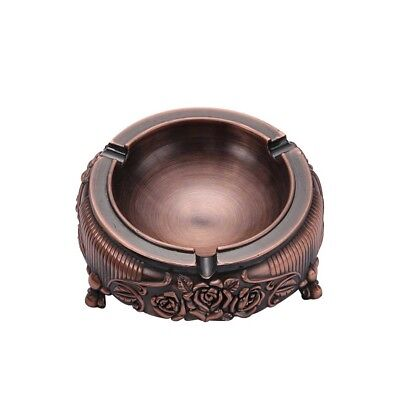 Cigarettes Ashtray Vintage Mini Ash Tray with Embossed Flower Red Wine Color AU