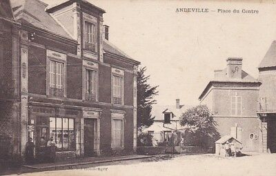 60 . ANDEVILLE . PLACE DU CENTRE ( 2 scans )