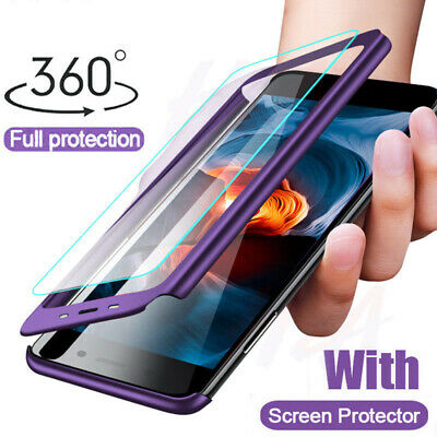 For Xiaomi Mi A2 Lite A1 Note 6 Pro 360° Protect Slim Case Cover+Tempered Glass