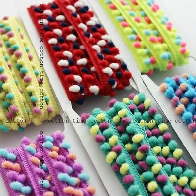 MINI PEARL Mixed Pom Pom Bobble Trim Braid Fringe Ribbon Edging Craft Decoration