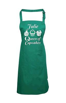 Edward Sinclair PERSONALIZED QUEEN OF CUPCAKES WITH NAME' Cooking/Baking Apron (