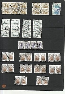 Russia 1995-1998 Definitives Selection in Pairs, Strips & Blocks VFU (48)