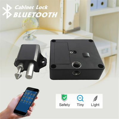 Electronic Bluetooth Smart Hidden Cabinet Door Drawer Lock Auto Safety Secure T