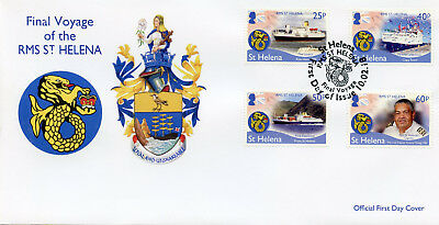 St Helena 2018 FDC RMS St Helena Final Voyage 4v Set Cover Boats Ships Stamps