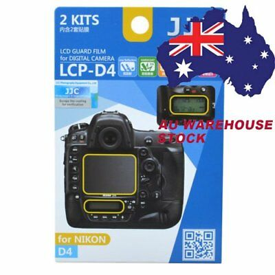 JJC LCP-D4 LCD Guard Film Camera Screen Display Protector for NIKON D4 DSLR