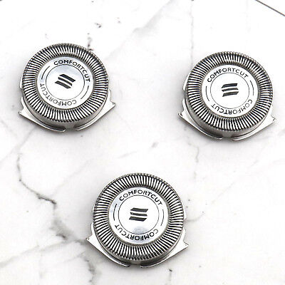 3pcs Replacement Shaver Head Blades For Philips Norelco Electric Razor Silver