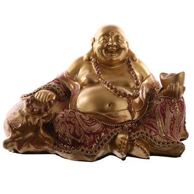 Decorative Chinese Buddha Figurine - Hand on Sack