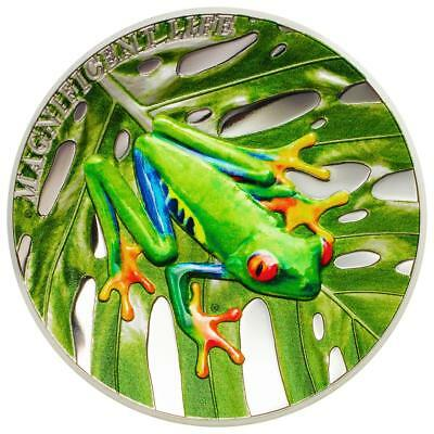 Cook Inseln - 5 Dollar 2018 - Laubfrosch Magnificent Life (4.) - 1 Oz Silber PP