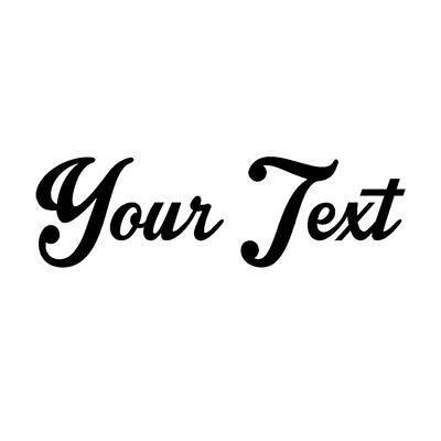 """Your Text Vinyl Car Sticker Window Bumper Decal CUSTOM 8"""" Personalized Lettering"""