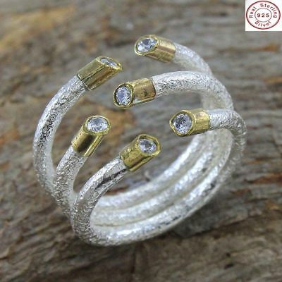 Mind-blowing Antique Look 925 Sterling Silver Cubic Zirconia Ring Jewelry US S 4
