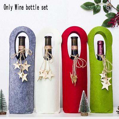 Merry Christmas Santa Wine Bottle Bag Cover Xmas Dinner Party-Tables-HOT