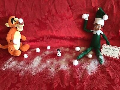 Handmade Xmas Elf Accessories / Snowball Fight Compatable with Elf on the Shelf