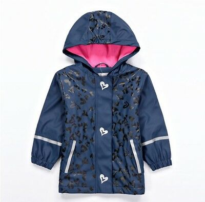 LUPILU Waterproof Girls Jacket Coat Hooded  NAVY ~12-24 Months 86/92 cm ~ NEW