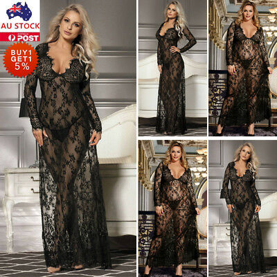 Women Lace Sissy Babydoll Dress Underwear Ladies Lingerie Sleepwear Nightwear