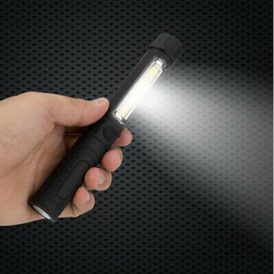COB LED Pocket Pen Light Inspection Maintain Work Lamp Portable Torch Flashlight