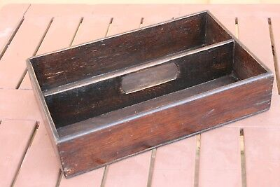 Victorian Wooden Cutlery Or Work Tray
