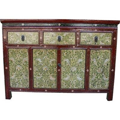 Original Painted Tibetan Sideboard Cabinet (29-039)