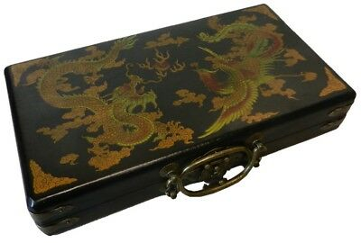 Chinese Abacus in Black Dragon Painted Gift Box (AB-SB-DP)