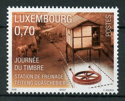 Luxembourg 2018 MNH Stamp Day Braking Station 1v Set Horses Cultures Stamps