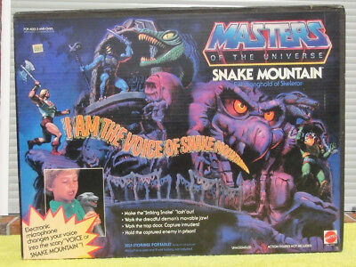 SNAKE MOUNTAIN motu MASTERS OF THE UNIVERSE vintage OVP komplett He-man Skeletor