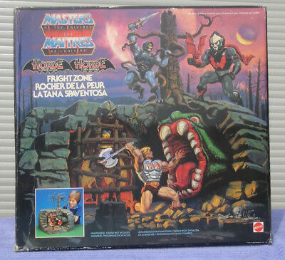 FRIGHT ZONE motu MASTERS OF THE UNIVERSE vintage OVP komplett He-man Hordak 1 it