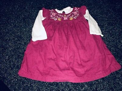 Girls Dress & Top Outfit Age 6-9 Months Winter Corderuoy