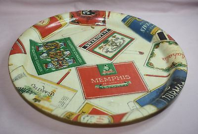 Collectible Advertising Cigarette Tray Memphis-Sport, Ed Laurens Manover France