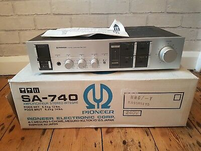 Pioneer SA-740 Vintage Stereo Amplifier. Boxed. Made in Japan