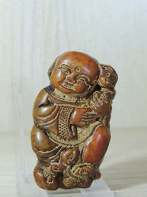 Great Antique Chinese Ming Dynasty Carved Stone Figure Statuette