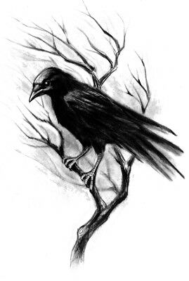 High Quality Supreme Fake Tattoo Gothic Crow Raven Waterproof Temporary Body Art