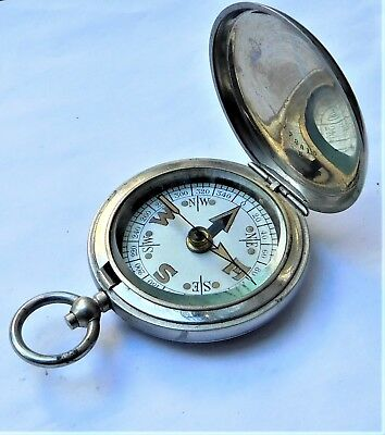 NO RESERVE Dennison 1917 WW1 Magnetic Marching Military Compass Vintage Antique