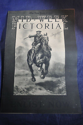 1918 *WW1* Midweek Pictorial - NY Times *FORWARD TO VICTORY ENLIST NOW*