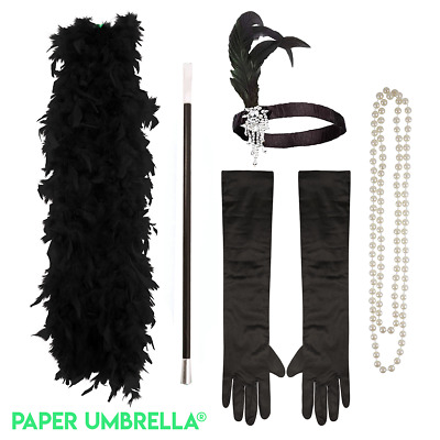 Ladies Gatsby FLAPPER Fancy Dress Accessories 20s Charleston Costume outfit