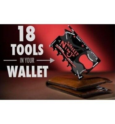 Wallet Ninja 18in1 Multi-Tool Card Pocket Size Screwdriver Bottle Opener Gift