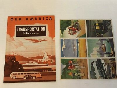 1943 Coca Cola Our America School Booklet Transportation Book And Stamps
