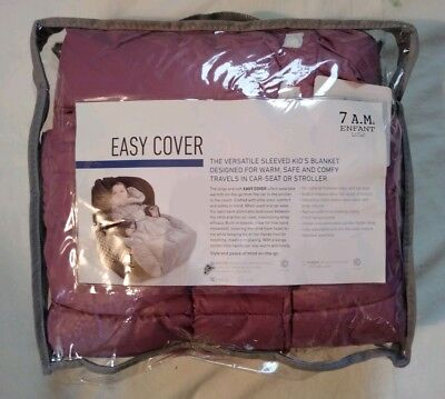 7AM Enfant Easy Cover Quilted Stroller  Blanket S Small 12m-3y Lilac (Defect)