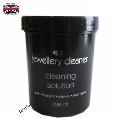 Jewellery Cleaning Solution for White Gold Silver & Platinum Gold Cleaner  Black