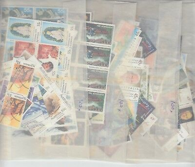 Australia postage stamps with gum face value $200   (200 x 55c and 200 x 45c)a