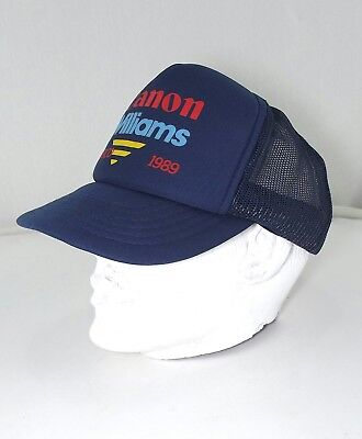 Cappello baseball uomo vintage blu canon williams monaco 1989 taglia unica