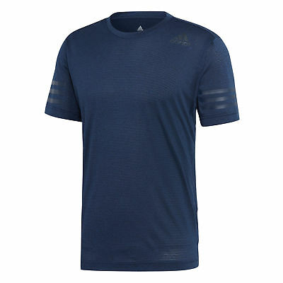 adidas Freelift Prime Mens Fitness Training T-Shirt Tee Navy Blue - S