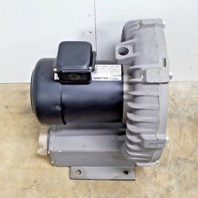 New Eg&g Rotron Regenerative Blower 1.5Hp 230-640V Ametek 510317