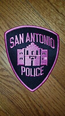 San Antonio Police pink breast Cancer Awareness police patch