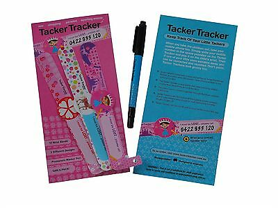 Child Safety Wrist Bands for girls( x 12 per package)