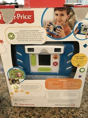Fisher Price Kid Tough Blue 4x Digital Zoom Camera W1459/ W1460 No Charger *A10