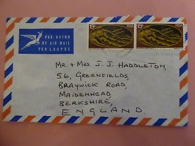 South Africa, Paired Shipwreck Stamps with Faint Slogan Postmark on Cover to UK